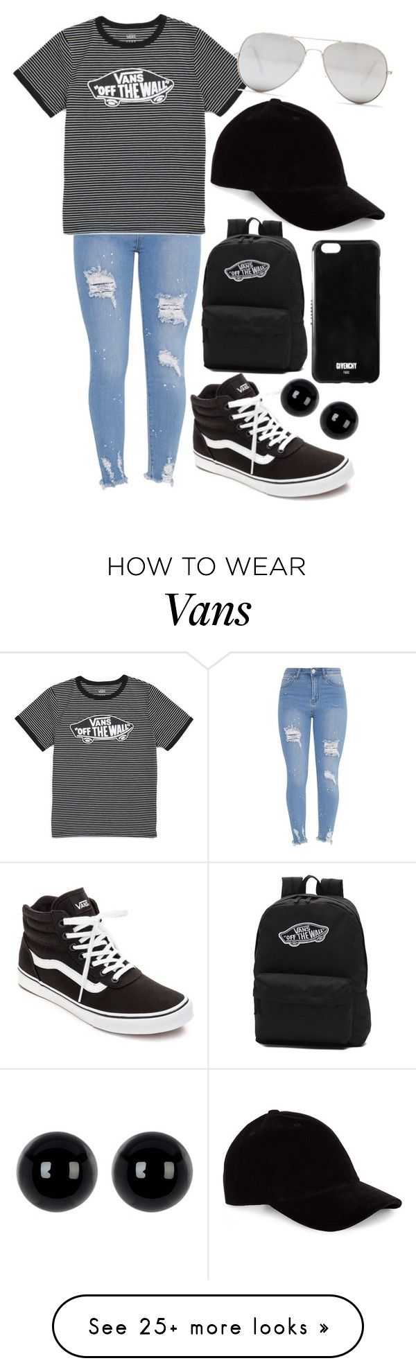 """Untitled #978"" by hayyhayc on Polyvore featuring Vans, Candela, Le Amonie, Givenchy and Sunny Rebel"