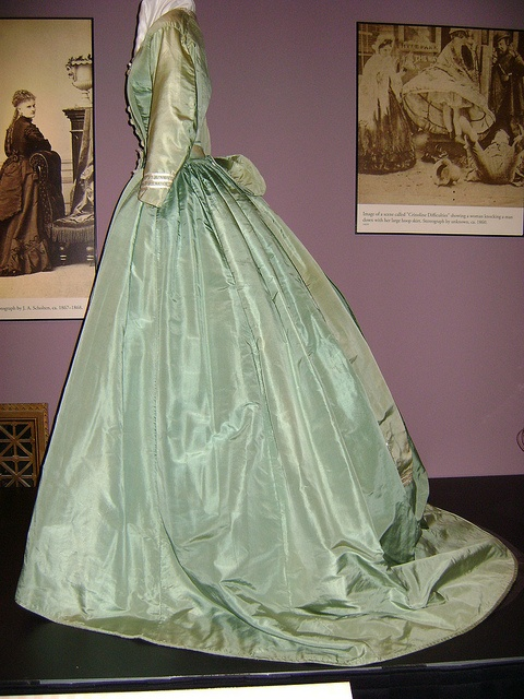 "Silk dress, ca. 1860s. Check out Stlmag.com's ""Look/Listen"" article on the Underneath It All exhibit."