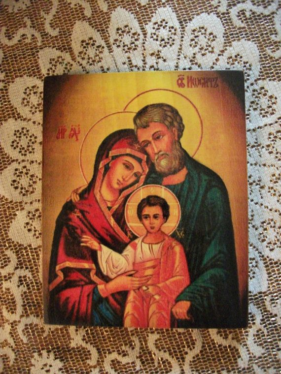 Icon Holy Family consecrated 7.6x9.6  от Iconikonaikone2014