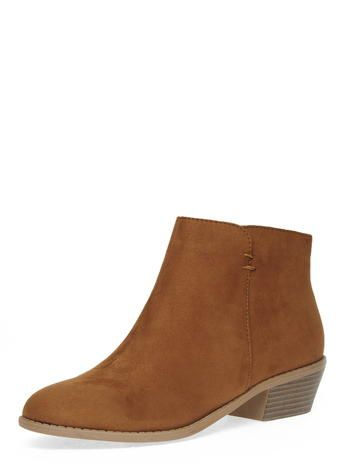 Tan western ankle boots