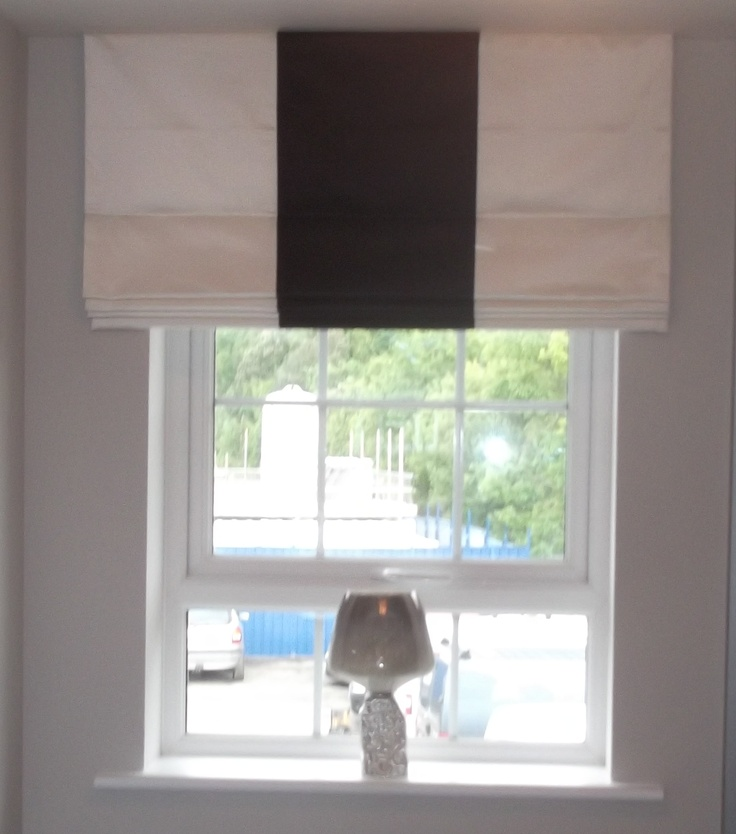 Roman Blind with Banding