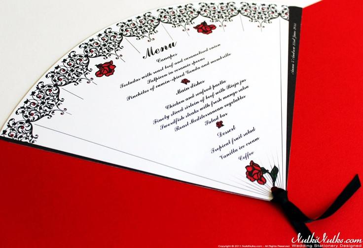 Spanish Fans Wedding Theme - Menu 3 | 6 / 6
