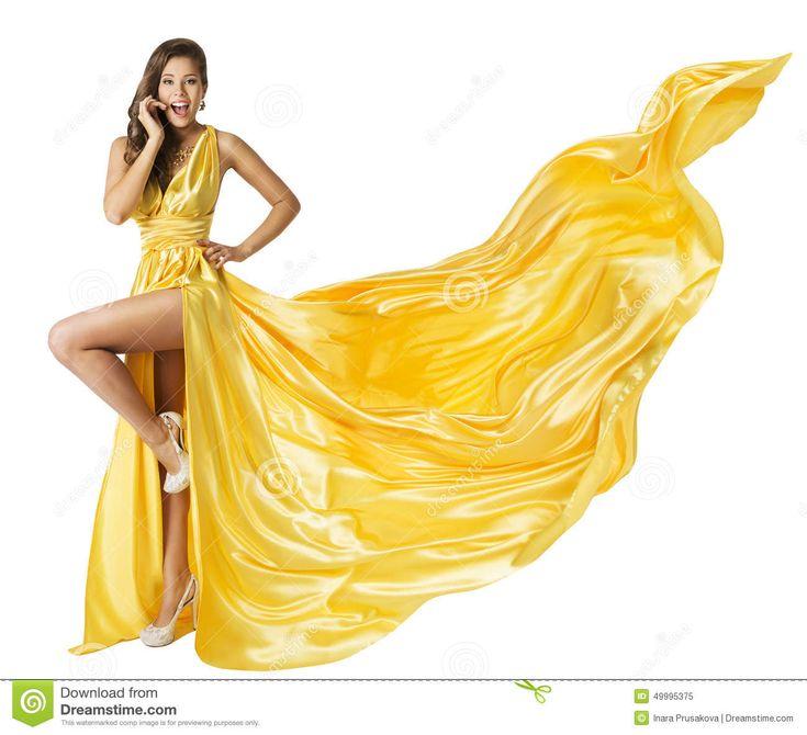 woman-beauty-fashion-dress-beautiful-girl-flying-yellow-fluttering-gown-standing-one-leg-high-heels-fabric-cloth-waving-49995375.jpg (1300×1185)