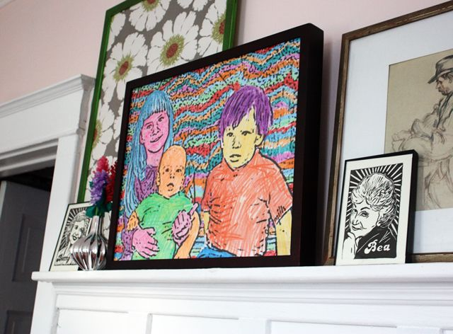 A Family Portrait Coloring Book Style