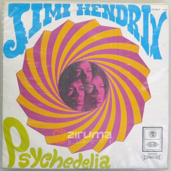 ONLY FOR EXHIBITION / SOLO PARA EXHIBICIÓN: Jimi Hendrix - Psychedelia - 1968 ORBE – S-ORLP 4196 venezuelan press - VG+ - very rare - + INFO: info@zirumaradio.net