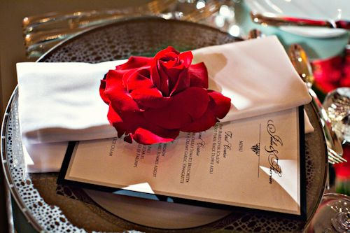 red rose detail and decor at Hotel Bel Air wedding, planning by Mindy Weiss, photos by Joy Marie Photography | junebugweddings.com