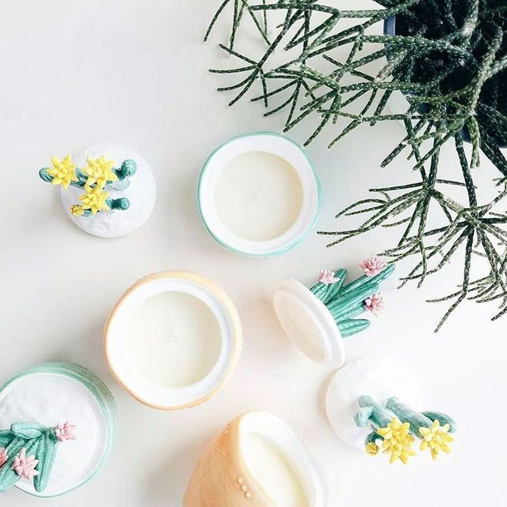 we've said we're in love before... but we REALLY mean it this time! #candledreams #cactus #capriblue | find these cuties at Anthropologie