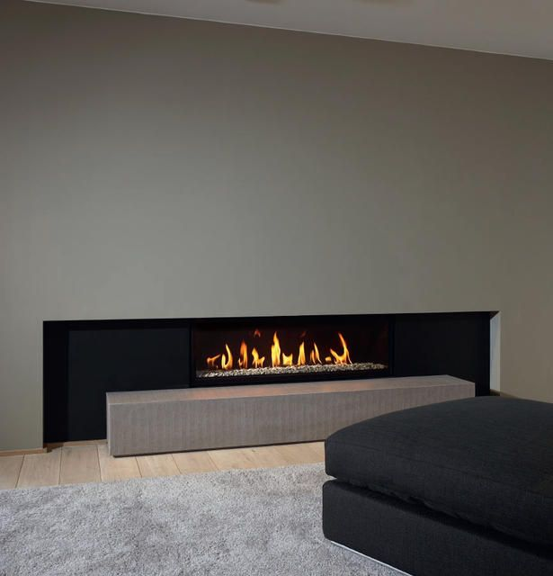 1000 images about linear fireplaces linear contemporary for Linear fireplace ideas