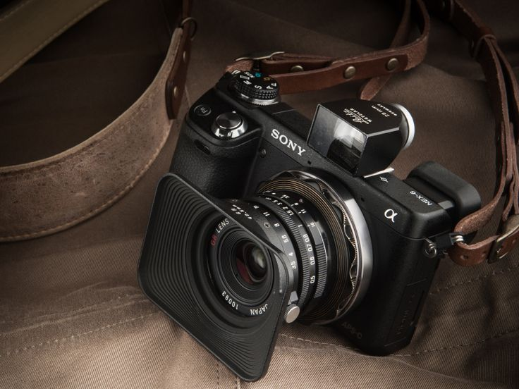 Sony NEX-6 with Ricoh GR 21mm f/3.5 and external viewfinder #Want