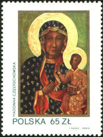 600th anniversary of the Black Madonna icon in the Jasna Góra monastery in Częstochowa-1982