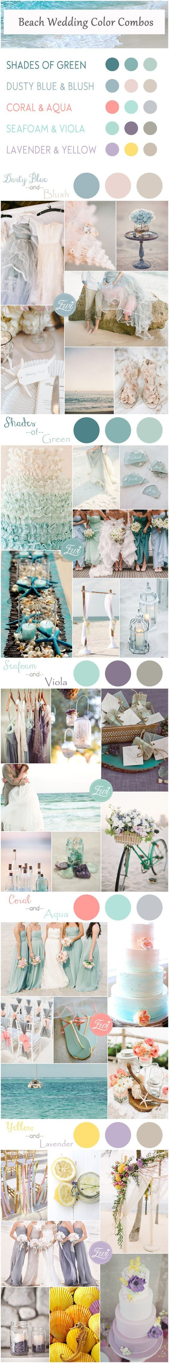 Beach Wedding Color Combos                                                                                                                                                                                 More