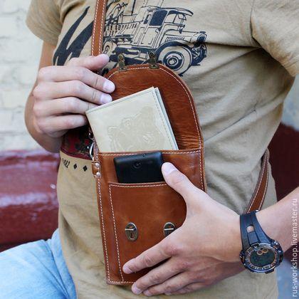 Купить или заказать Коричневая мужская сумка из натуральной кожи, сумка для документов. в интернет-магазине на Ярмарке Мастеров. Коричневая мужская сумка из натуральной кожи, сумка для документов. Данная сумка шьется только на заказ. Цена на заказ: Стандартная цена изготовления из нашей кожи, которая есть в наличии 9000 руб. ВНИМАНИЕ из кожи под заказ от 10000-15000 руб. Сейчас кожа стоит от 3000- 9000 руб. Если вы желаете, нанесение тиснения, инициалы, фразы, изображения, обговариваем…
