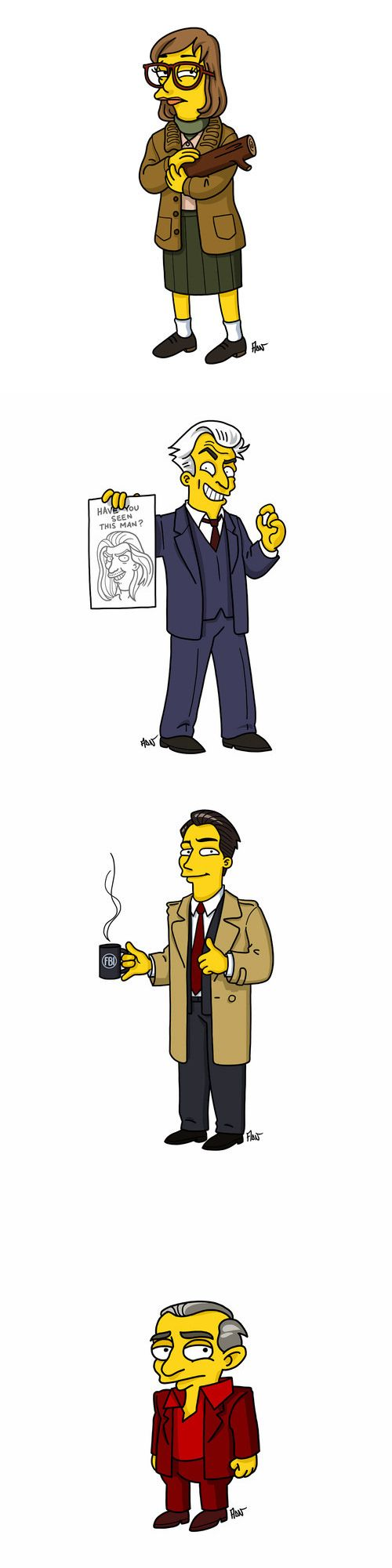 The 'Twin Peaks' cast gets a 'Simpsons' style makeover!