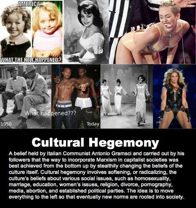 I had never heard of Cultural Hegemony, but apparently the liberal left has. It is unbelievable how accurately this describes what is happening in America. Wake up people, you're not being progressive...you're being brainwashed!