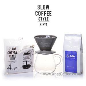 29. 킨토 슬로우 커피 도자기 4인 세트_그레이 - Whatcoffee.co.kr - 칼리타,비알레띠,보덤,모카포트,드립용품,킨토 ::