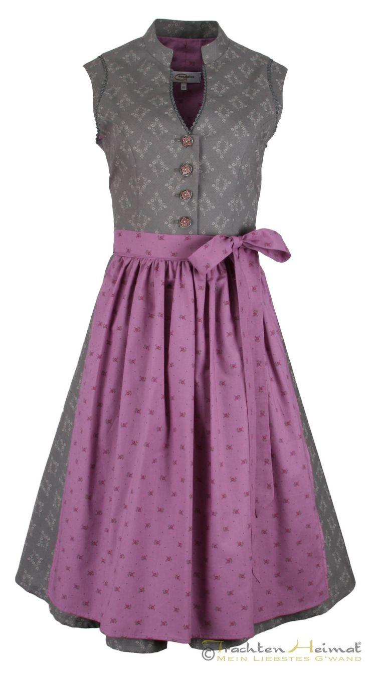 #Farbbberatung #Stilberatung #Farbenreich mit www.farben-reich.com Vintage Baumwolldirndl Goldstich grau lila