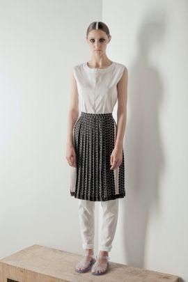 Skirt with small dots | Adelina Ivan Studio