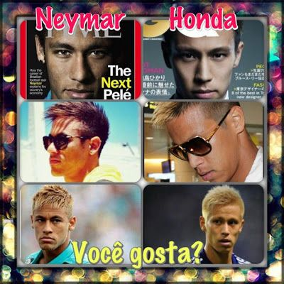 Japan's Honda and Brazil's Neymar look alike, don't they? #football #soccer