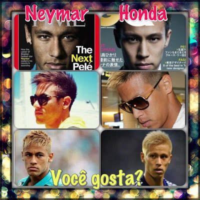 Japan's Honda and Brazil's Neymar look alike, don't they? #football #soccer