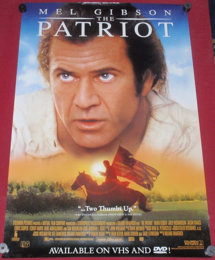 The Patriot Movie Poster 27x40 Used Mel Gibson, Heath Ledger