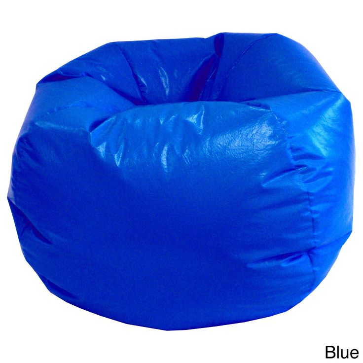Gold Medal Small Toddler Wet Look Vinyl Bean Bag Nautical Blue