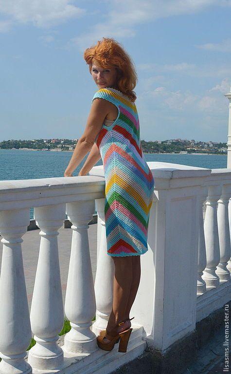 """Купить Платье """"Леденцы"""" - платье, сарафан, вязанное платье, Вязание крючком, Смирнова Марина"""