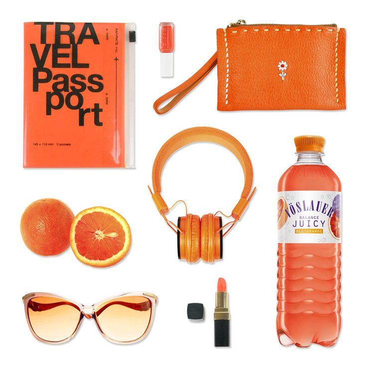 All Orange Everything. Reise-Essentials by Vöslauer