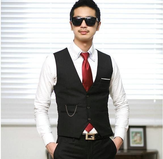 Men's Gentleman Top Design Casual Waistcoat Business Suit Vest VS17