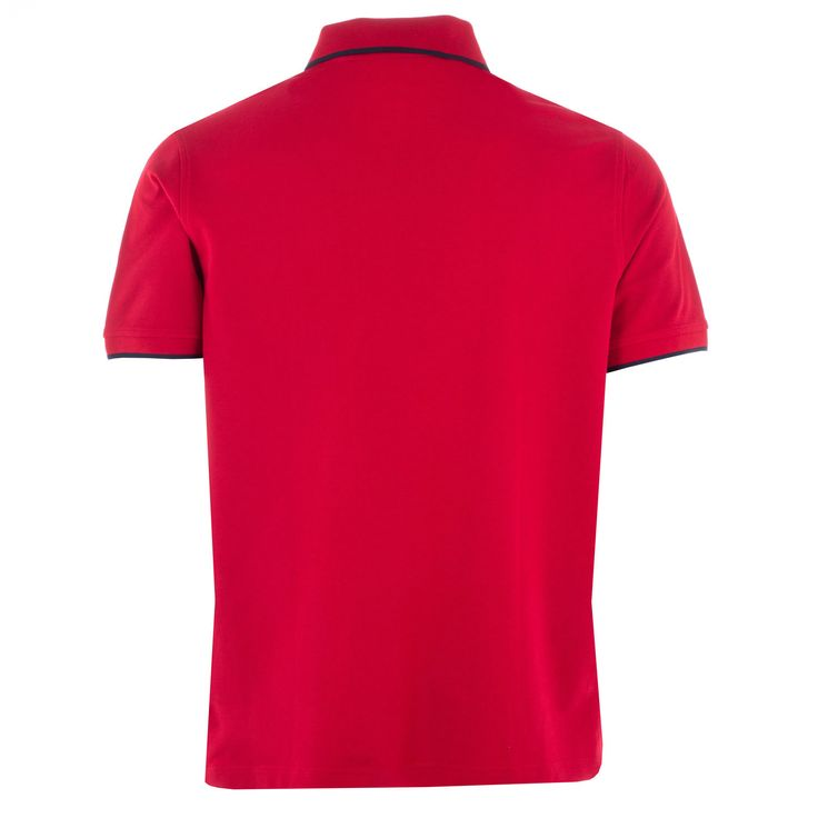 Polo Shirts | Red Mens Pique Polo Shirt | Get The label