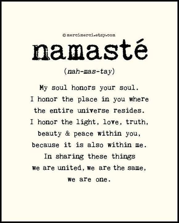 would be cool for a matching tattoo just using the word namaste