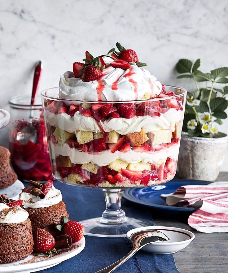 Strawberry Trifle with Mascarpone Whipped Cream | Williams Sonoma