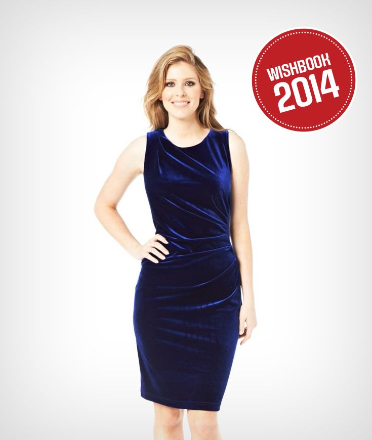 A pure velvet dress is great for a holiday party this winter!