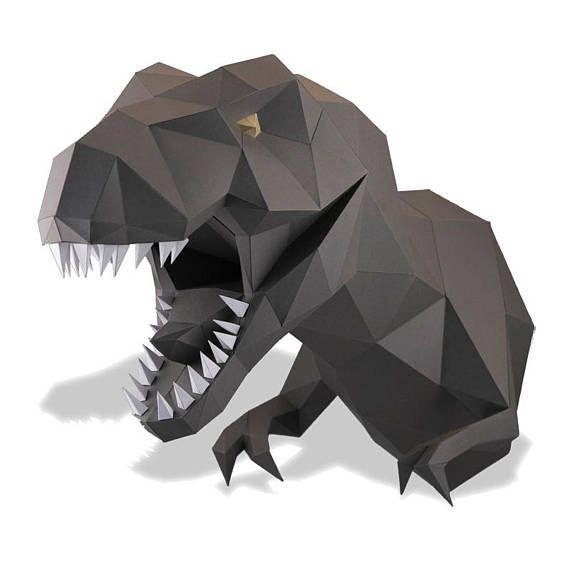 Título del producto: Cabeza de dinosaurio ¿Cansado de fotos tristes en las paredes? Entonces este cabeza de dinosaurio es lo correcto para usted. La cabeza de dinosaurio está hecha de papel de alta calidad ecológico 250 g/m². Recibirá las secciones de corte y el doblado de papel que sólo