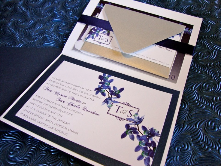 Sapphire Orchid Wedding Invitations