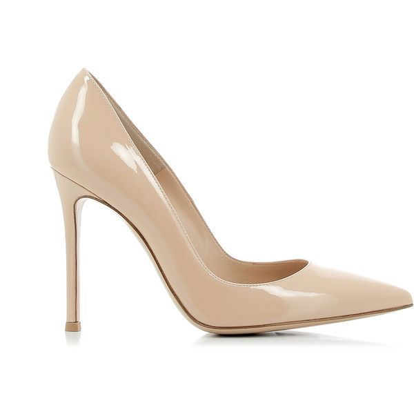Gianvito Rossi Leather Nude Shoes ($490) ❤ liked on Polyvore featuring shoes, pumps, nude court shoes, nude pumps, gianvito rossi, leather pumps and high heel shoes