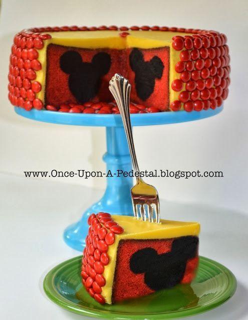Hidden Mickey Mouse Cake