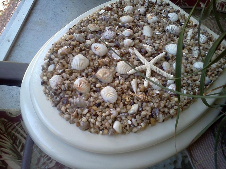 Seashell toilet seat cover