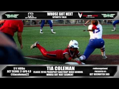 Tia Coleman Class 2016 All State Softball Prospect Bastrop High School - IBOtube