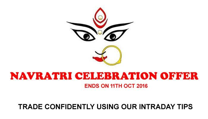 NAVRATRI CELEBRATION OFFER FOR DAY TRADERS We have launched #Navratri Celebration offer for day traders in Nse Stock #Market. If you subscribe for our 3 Month #Stock tips Plan by Paying Rs 11,000/-, you will get 1 month free stock tips services. Similarly if a trader subscribe with us for 1 Year by paying Rs 36,000 he will get Four month Share tips Free Service. The offer Ends on 11 Oct 2016. So Hurry up to take our Free Trial of Two Days First, Before you avail our Navratri #Celebration…