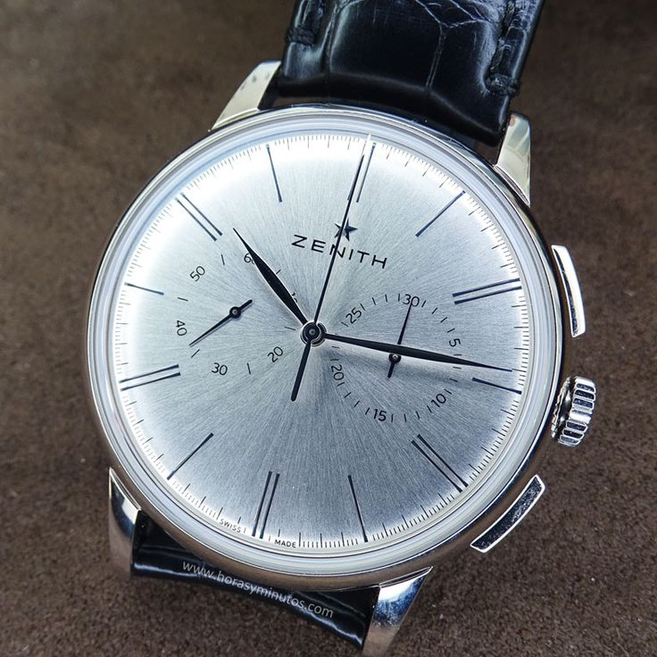 Zenith Elite Chronograph Classic acero perfil