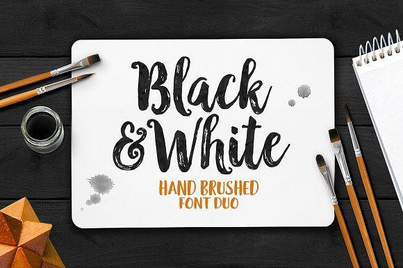 Black & White Font Duo by Seniors on @creativemarket