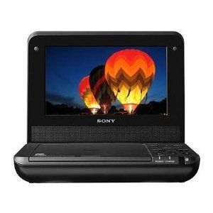 Sony DVP-FX750 7-Inch Portable DVD Player, Black by Sony Price: $69.00 & FREE Shipping.  Portable DVD player with 7-inch screen and stylish black textured cover  Supports multiple DVD & CD disc formats, plus JPEG photo slideshows and MP3 audio  Share the entertainment with 2 headphone jacks (35mm) and an A/V output to a TV or external monitor  Built-in rechargeable battery MORE INFO: http://www.everythingkids.co/how-to-travel-with-kids/