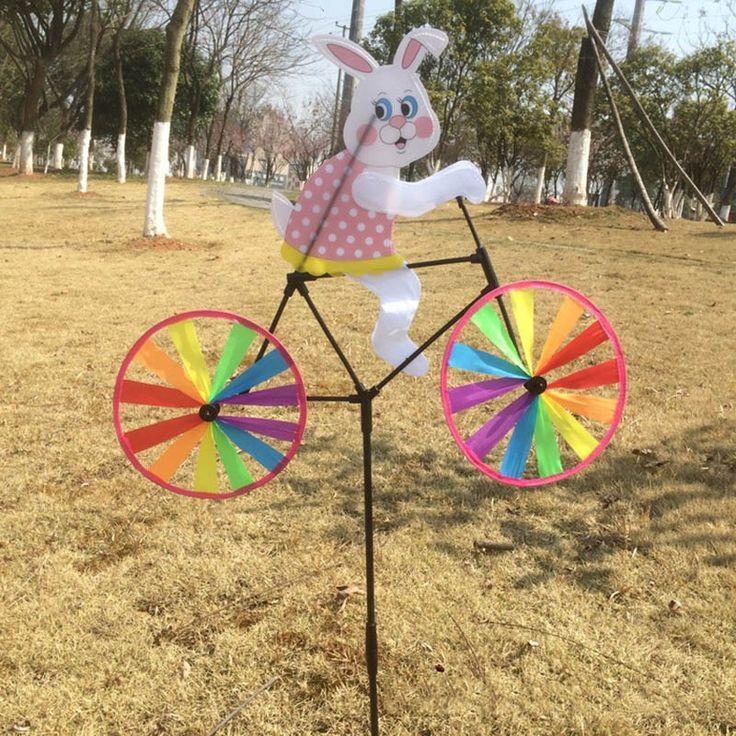 Животных Велоспорт Форма Творческий Многоцветный Ветер Spinner Юла Сад Мельница Ткань для Сада Декор купить на AliExpress