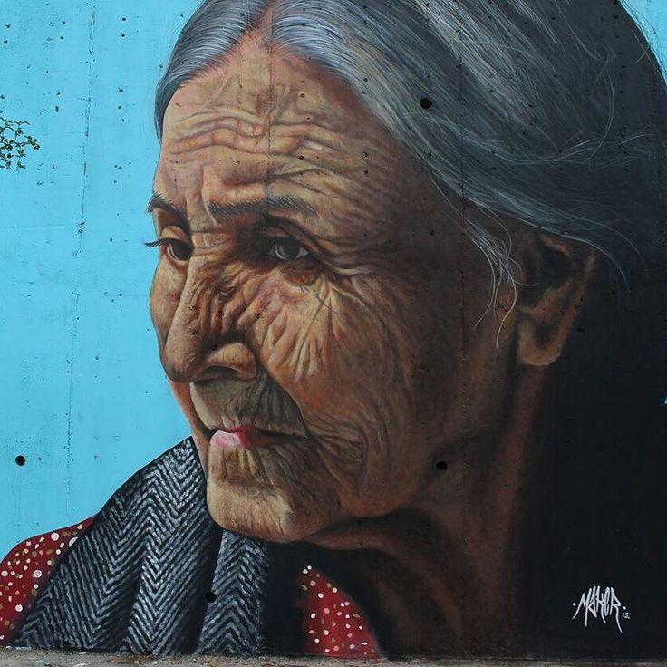 #Muralismo #streetart #art #monterrey #anciana #grafitti     MAKER -