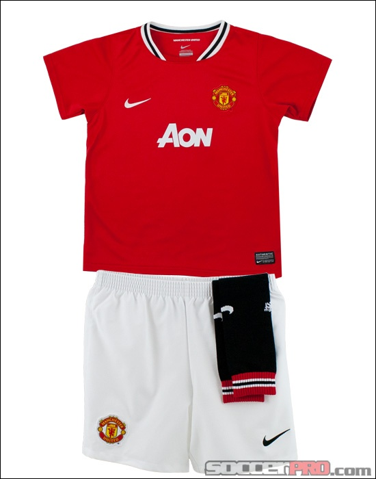 Nike Manchester United Lil Boys Home Kit - Red...$47.99