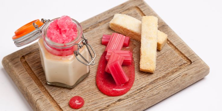 A delicious take on rhubarb and custard by Emily Watkins is the perfect way to usher in spring