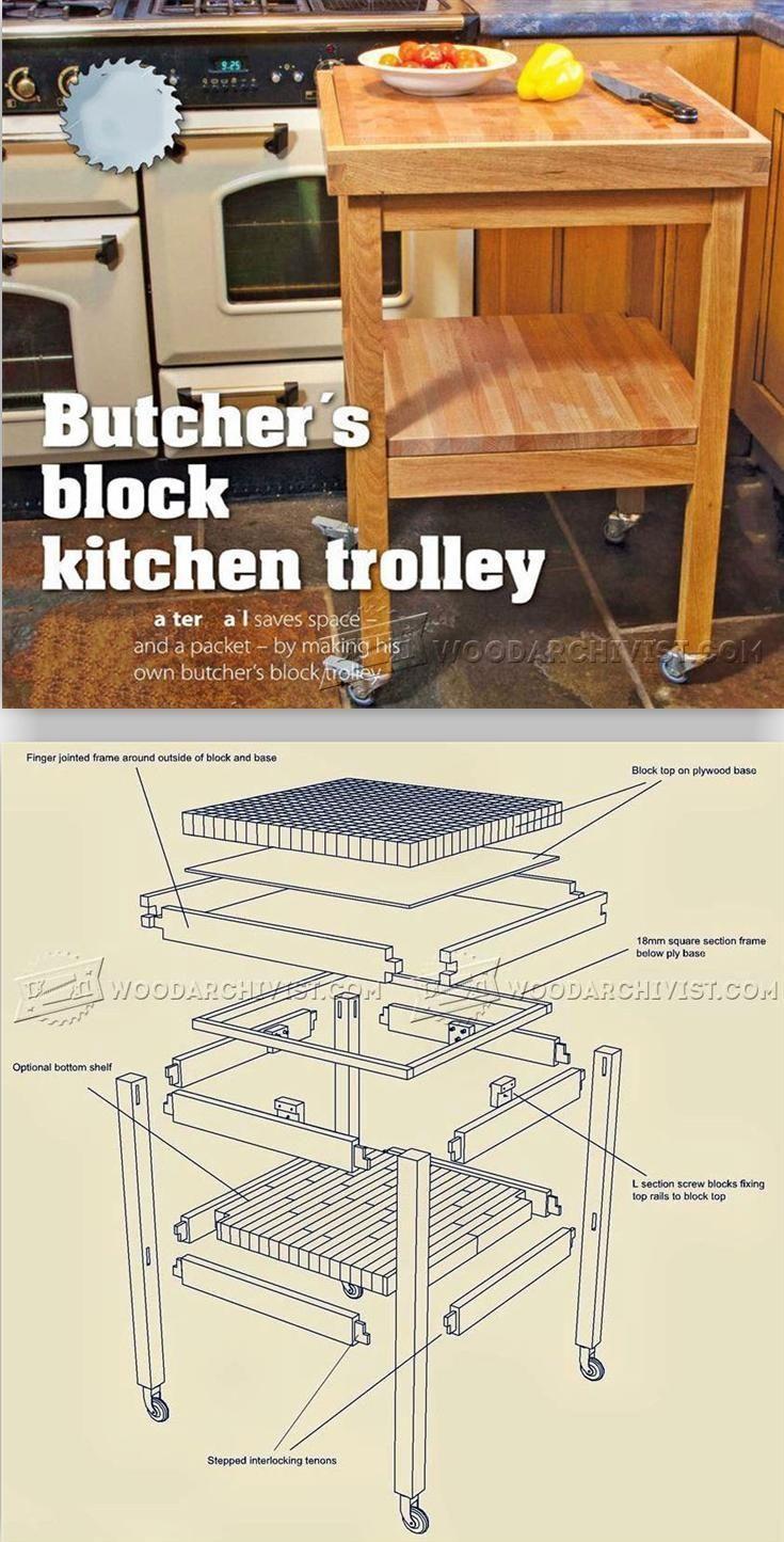 Butchers Block Kitchen Trolley Plans
