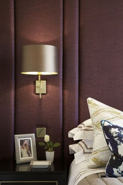 Eye For Design: Decorating With Art Deco Inspired Padded Headboards.....aubergine interiors