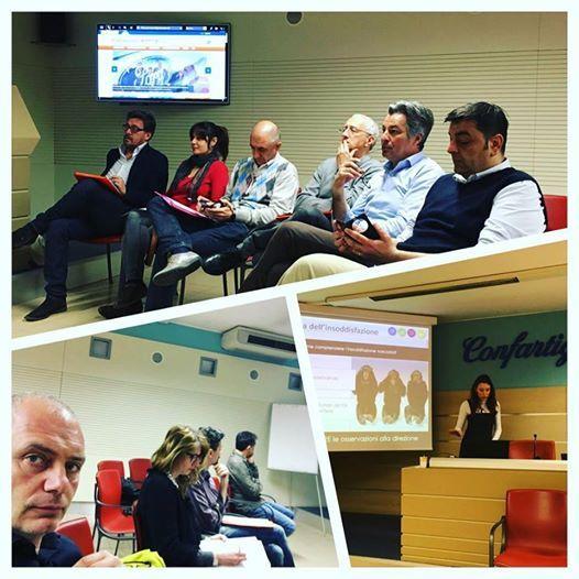 8/4/2016. Lo staff di Crescere per Competere al lavoro nell'incontro presso Confartigianato Imprese Arezzo