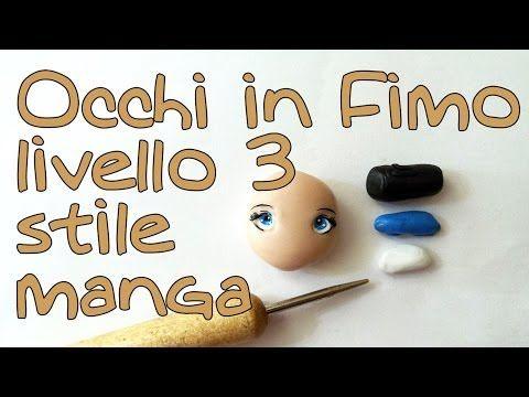 Tutorial occhi fimo bambole stile manga liv. 3 - Polymer clay tutorial doll's eyes manga style - YouTube